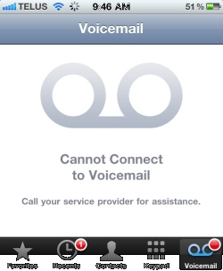 iPhone Cannot connect to voicemail