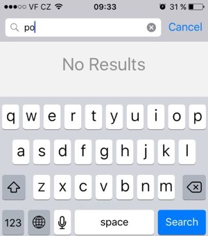 iPhone contacts search not working