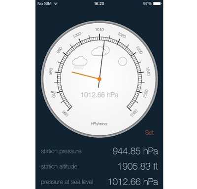 iPhone weather forecasting app