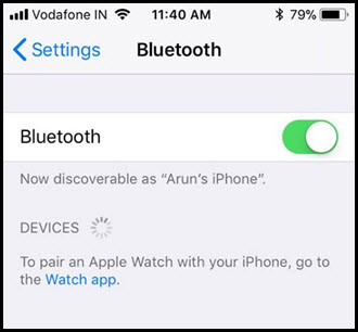iphone x bluetooth device