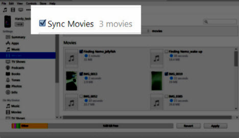 how to add videos to iphone using itunes