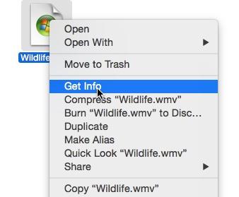 Mac file get info