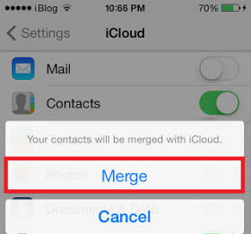 merge contacts iPhone