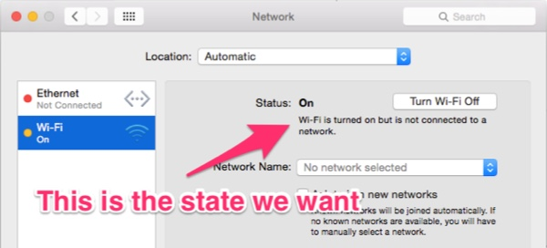OS X Yosemite WiFi on not connected