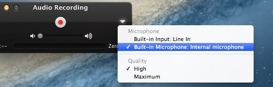 QuickTime audio settings