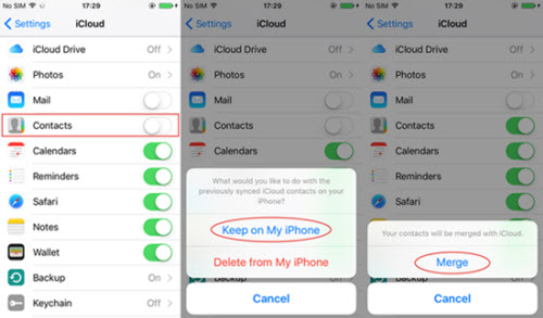 recover iphone contact icloud
