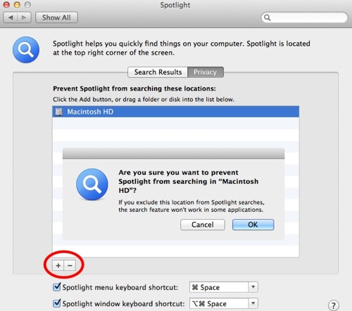 Re-index Spotlight on Mac