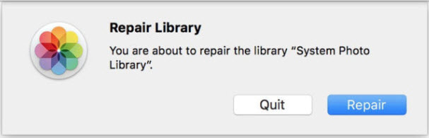 repair photo library mac