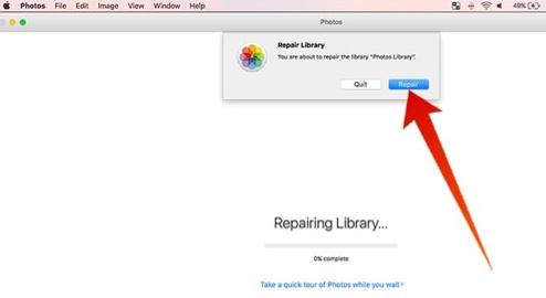 repairing library