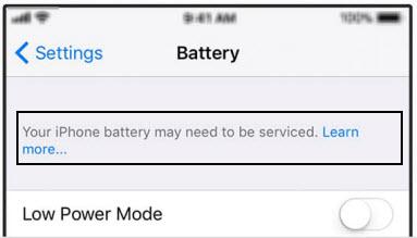 settings battery