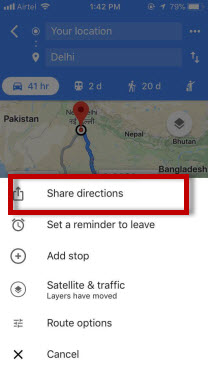 share direction