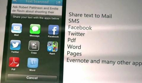sharing text