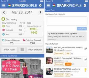sparkpeople app for iphone ipad