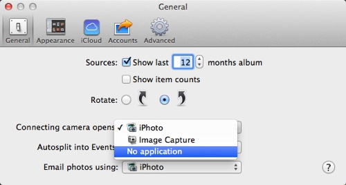 stop iPhoto opening automatically
