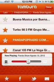 Tambura Radio app