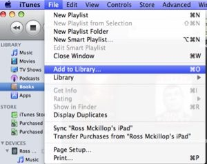 transfer files using iTunes
