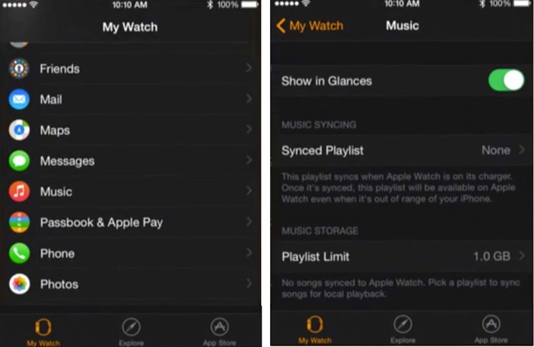 transfer music iPhone to Apple Watch