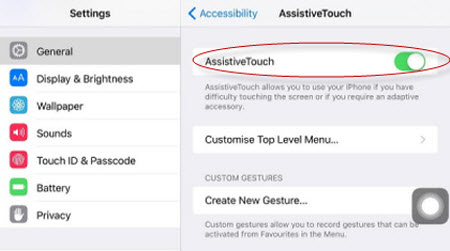 turn off assistive touch