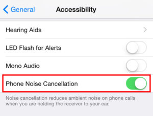 turn off noise cancellation
