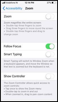 turn off zoom iphone x