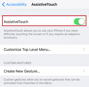 turn on assistive touch