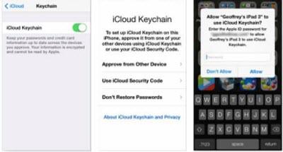 turn on icloud keychain