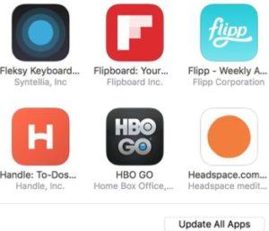 update all app using iTunes