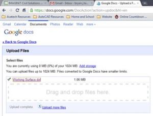 upload files in google docs