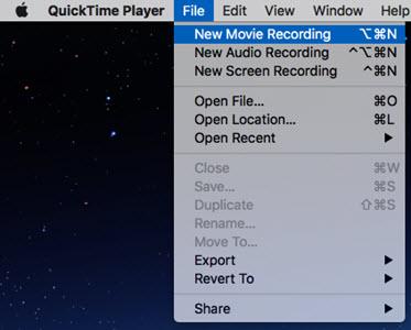 How do i take a screen video on my mac
