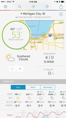 weather underground iphone app