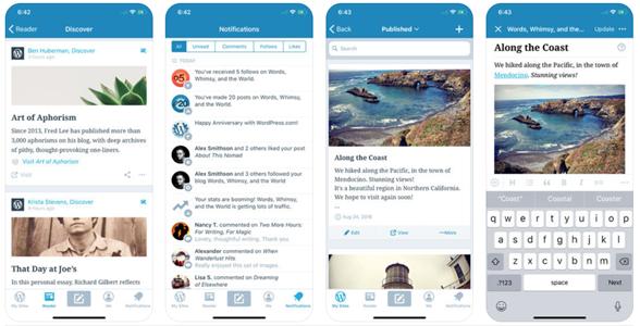 wordpree-blogging app